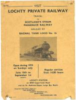 A 1974 notice promoting the Lochty Private Railway. [See image 17701]<br><br>[Ian Dinmore&nbsp;//1974]