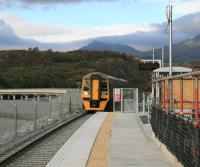 When complete, the new Llandecwyn station, seen here on 14 October 2014, will have lighting, a Passenger Information System and slate walls to blend in with its surroundings in Snowdonia National Park.<br><br>[Colin McDonald&nbsp;14/10/2014]