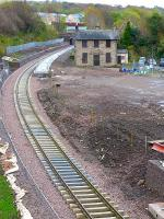 Looking south over Gorebridge Station with track laid on 22 October.<br><br>[Bill Roberton&nbsp;22/10/2014]