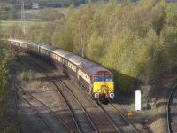 57312 leads the <I>Northern Belle</I> past Inverkeithing Central Junction on its way to Edinburgh on 25 October. 47790 is bringing up the rear.<br><br>[Bill Roberton&nbsp;25/10/2014]