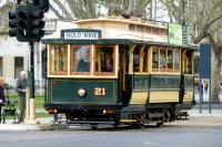 Four wheeler tram [a real tram] at Pall Mall, Bendigo, in September 2014,<br><br>[Colin Miller&nbsp;26/09/2014]