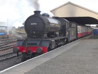 D49 62712 <I>Morayshire</I> awaiting departure from Bo'ness with the 15.35 to Manuel, on 26 October.<br><br>[Bill Roberton&nbsp;26/10/2014]