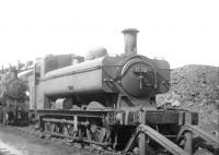 Ex-GWR 57xx class 0-6-0PT no 3770 photographed alongside Oswestry shed on 8 August 1960. <br><br>[David Stewart&nbsp;08/08/1960]