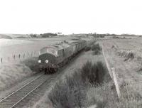 NBL Type 2 D6140 climbing Mormond Hill with a freight in August 1960. <br><br>[G H Robin collection by courtesy of the Mitchell Library, Glasgow&nbsp;19/08/1960]