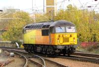 Colas 56302 runs round the Prestwick aviation fuel tanks at Ayr on 31 October 2014. [See image 14194]<br><br>[Colin Miller&nbsp;31/10/2014]