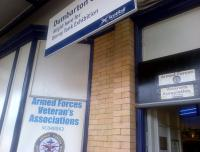 The Armed Forces Veterans Association now has an office on Dumbarton Central Station, pictured here on 29 October 2014.<br><br>[John Yellowlees&nbsp;29/10/2014]