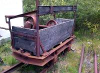 I believe they call this an axle box. Some useful spare parts stored in what appears to be a three and a half plank wagon at Threlkeld Quarry Museum.<br><br>[Ken Strachan&nbsp;18/05/2014]