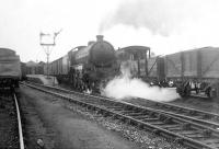 B1 4-6-0 61134 leaving Peterhead on 4 July 1951.  <br><br>[G H Robin collection by courtesy of the Mitchell Library, Glasgow&nbsp;04/07/1951]
