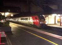 A Virgin Voyager, ultimate destination Birmingham New Street, approaching the end of its journey on 11th November 2014 as it makes its last intermediate stop at Birmingham International.<br><br>[Ken Strachan&nbsp;11/11/2014]