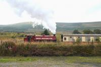 J94 71515 <I>Mech. Navvies Ltd.</I> [RSH 7169 of 1944] banking a train out of Furnace Sidings on the Pontypool and Blaenavon Railway on 13 September 2014.<br><br>[Peter Todd&nbsp;13/09/2014]