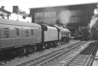 Royal Scot 4-6-0 no 46115 <I>Scots Guardsman</I> running into Carlisle platform 4 on 17 July 1965 with the 9.50am Edinburgh Waverley - Sheffield Midland.<br><br>[K A Gray&nbsp;17/07/1965]