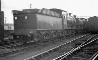 Locomotives in the shed yard at Heaton in early 1963 include home based J27 0-6-0 65796.<br><br>[K A Gray&nbsp;//1963]