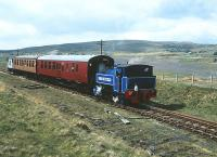 A photograph showing Bagnall 0-6-0T  <I>Brookfield</I> in action on the Pontypool and Blaenavon Railway in May 1991.<br><br>[Peter Todd&nbsp;19/05/1991]