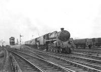 Standard Class 5 4-6-0 73078 pilots Black 5 44967 on a Glasgow bound West Highland Line train passing Craigendoran Junction in the spring of 1959.  <br><br>[G H Robin collection by courtesy of the Mitchell Library, Glasgow&nbsp;19/05/1959]