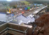 Track-laying looking imminent at Stow station on 22 November 2014.<br><br>[John Yellowlees&nbsp;22/11/2014]