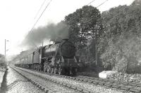 Fort William Black 5 4-6-0 no 44976, photographed near Bowling on 29 September 1959 at the head of a Mallaig - Glasgow train.  <br><br>[G H Robin collection by courtesy of the Mitchell Library, Glasgow 29/09/1959]
