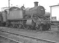 Ex-GWR Collett 2-6-2T 6152 in the shed yard at Didcot in October 1961. The locomotive was withdrawn from here at the end of January 1962 and cut up at Swindon works 3 months later.<br><br>[K A Gray&nbsp;06/10/1961]