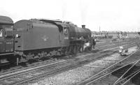 A down excursion train leaves Doncaster on 8 September 1962 behind Holbeck Jubilee no 45658 <I>'Keyes'</I>.<br><br>[K A Gray&nbsp;08/09/1962]