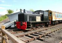 RSH 0-6-0 diesel hydraulic shunter <I>Darlington</I> (RSHD8343/1962), similar to the BR Class 04 design, stands at Warcop on the Eden Valley Railway in May 2006. <br><br>[John Furnevel&nbsp;11/05/2006]