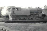 Parkhead V1 2-6-2T no 67629 on the turntable at Helensburgh shed on 22 October 1960.<br><br>[G H Robin collection by courtesy of the Mitchell Library, Glasgow&nbsp;22/10/1960]