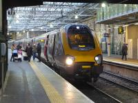 The 13.00 Glasgow Central  - Plymouth CrossCountry voyager calls at Waverley on 9 December.<br><br>[Bill Roberton&nbsp;09/12/2014]