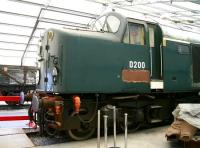 EE Type 4 D200 (aka 40122) receiving attention within 'The Depot' in the south yard of the National Railway Museum, York, in June 2013. [See image 18073]   <br><br>[John Furnevel&nbsp;04/06/2013]