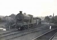 A J37 0-6-0 carrying the LNER number 4541 stands on the Ellangowan paper mill siding alongside Milngavie station on 4 September 1948. The locomotive would not receive its British Railways '6' prefix for another 10 months. [See image 49723] <br><br>[G H Robin collection by courtesy of the Mitchell Library, Glasgow&nbsp;04/09/1948]