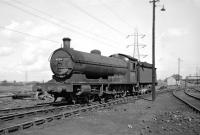 A Saturday afternoon visit to Tyne Dock shed in late summer 1966 found a full house but only a few in steam, of which Q6 0-8-0 63366, seen here in the yard, was one.	<br><br>[Bill Jamieson&nbsp;03/09/1966]