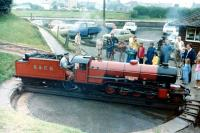 R&ER <I>River Mite</I> being turned at Ravenglass in April 1982.<br><br>[Colin Miller&nbsp;/04/1982]