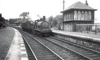 Caley ^Jumbo^ 57307 ambles through Patterton on Saturday 16 July 1949 with a short goods train.