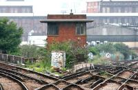 The old signal box at Factory Junction in July 2005.<br><br>[John Furnevel&nbsp;21/07/2005]