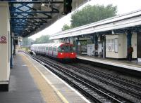 Piccadilly Line train passing through Turnham Green station in July 2005 en route to Hyde Park Corner where trains were terminating in the aftermath of the bomb at Russell Square.<br><br>[John Furnevel&nbsp;21/07/2005]