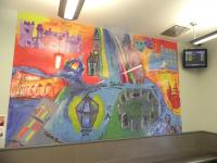 Aberdeen station - mural 2. February 2010.<br><br>[First ScotRail&nbsp;20/02/2010]