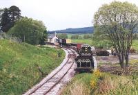 Southern approach to Broomhill station in May 2002. View from Station Road bridge.<br><br>[John Furnevel&nbsp;13/05/2002]
