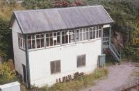 Kyle of Lochalsh signal box in 1995. At this time it was redundant and being used as a store.<br><br>[John Gray&nbsp;//1995]