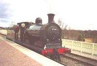 Caledonian Railway 0-6-0 in BR black as No.57566 at Aviemore.<br><br>[John Gray&nbsp;//]