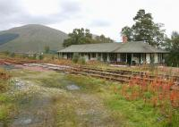 Looking south-west from the former entrance to the yard at Bridge of Orchy in September 2005 with the station in the background at a lower level.<br><br>[John Furnevel&nbsp;24/09/2005]