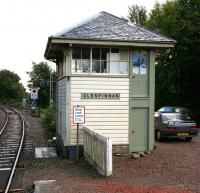 The signal box at Glenfinnan station, looking east in September 2005.<br><br>[John Furnevel&nbsp;25/09/2005]