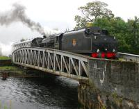 45407 takes <I>The Jacobite</I> excursion to Mallaig over Banavie swing bridge in September 2005.<br><br>[John Furnevel&nbsp;25/09/2005]