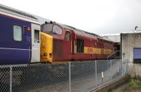 37406 standing at Fort William station with sleeper stock in September 2005.<br><br>[John Furnevel&nbsp;28/09/2005]