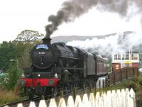 45407 brings <i>The Jacobite</i> east through Banavie station on 25 September 2005 on its way back to Fort William. <br><br>[John Furnevel&nbsp;25/09/2005]