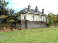 Former Station at Longmorn, main building looking south, 14/10/05.<br><br>[John Gray&nbsp;14/10/2005]