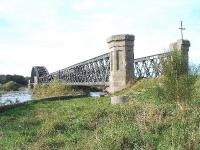 Spey Bay Viaduct looking west. The viaduct is part of the Speyside Way and is still in good condition, 14/10/05.<br><br>[John Gray&nbsp;14/10/2005]