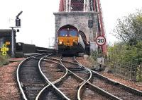 Northbound coal empties coming off the Forth Bridge, 2005.<br><br>[John Furnevel&nbsp;//2005]
