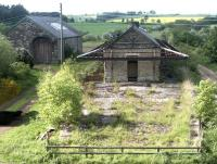 Whittingham station and goods shed in May 2004 looking north towards Wooler.<br><br>[John Furnevel&nbsp;29/05/2004]