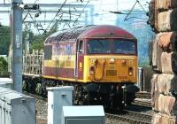A southbound freight approaching Carlisle station on 13 May 2003 behind EWS 56038.<br><br>[John Furnevel&nbsp;13/05/2003]