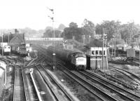 6904 passing north through Beattock station in late 1972 with a down oil train.<br><br>[John Furnevel&nbsp;16/09/1972]