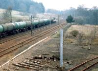 56029 climbing Beattock with an oil train in April 1999. <br><br>[John Furnevel&nbsp;05/04/1999]