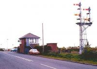 Winning signal box and level crossing, view west towards the junction on 25 May 2004.<br><br>[John Furnevel&nbsp;25/05/2004]