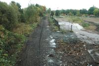 Looking east over the site of the Alloa Brewery and siding. The locomotive shed was to the left, brewery to the right. This is to be the site of the new Alloa station.<br><br>[Ewan Crawford&nbsp;23/10/2005]